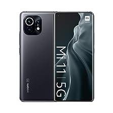 "Xiaomi Mi 11 5G Smartphone + Kopfhörer (6,81"" Amoled DotDisplay + AdaptiveSync, 8+128GB, 108MP OIS Triple-Front und 20MP Frontkamera, Dual-5G SIM, Android 11.0, MIUI 12.5) GRAU - [Exklusiv bei Amazon]©Amazon"