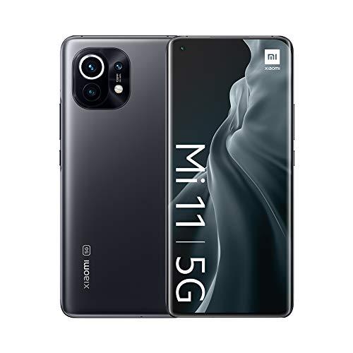 "Xiaomi Mi 11 5G - Smartphone 8GB + 128GB, 6.81"" WQHD+ AMOLED DotDisplay, Qualcomm Snapdragon 888, cámara triple de 108MP + 13 MP + 5MP, 4600 mAh, NFC, Gris Medianoche (Versión oficial)"