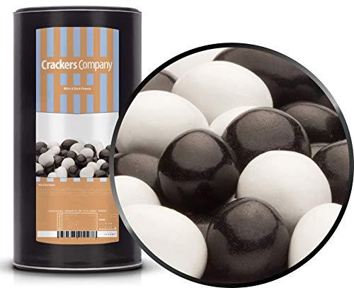 CrackersCompany 'White & Black Peanuts' (1 x 950g in Membrandose groß) Vollmilchschokonüsse Weiß und Schwarz - Erdnuss weiß und schwarz in Vollmilchschokolade