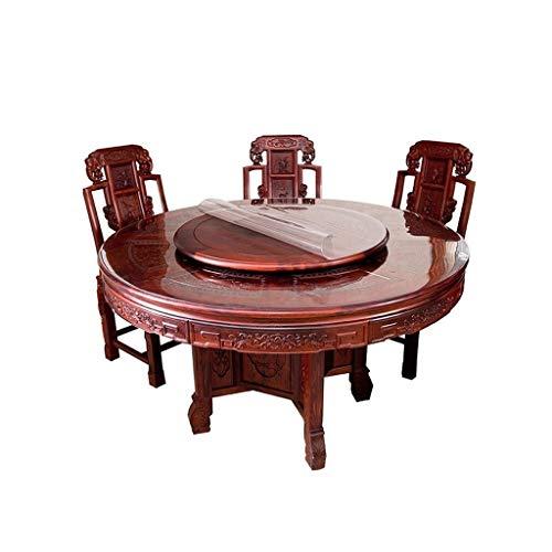 Simple Round Table Doek, Huishoudelijke Tafelkleed Ronde Transparante Placemat Zacht Glas PVC Plastic Waterdicht Olie-proof En Hot-proof 110cm * 1MM