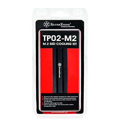 SilverStone(シルバーストーン)M.2対応ヒートシンクTP02アルミニウム合金熱伝導パッド付属SST-TP02-M2【日本正規代理店品】
