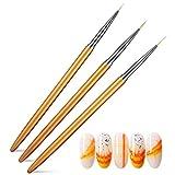 YuanSu 3pc Cepillo de uñas Nail Art Composición Profesional Manicure Set Line Stippling Pinting Pen Cepillo para Las uñas