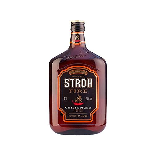 Licor de Ron Stroh Fire Chili Spiced de 70 cl - Elaborado en Austria - Bodegas Grupo Caballero (Pack de 1 botella)