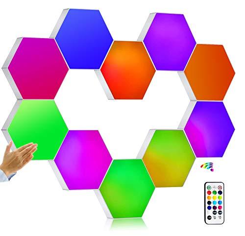 W.KING Neue DIY Quantum LED LampeModular Touch Sensor Licht Sechseck Licht Nachtlicht Kreative dekorative DIY Wandbeleuchtung,10 Piece