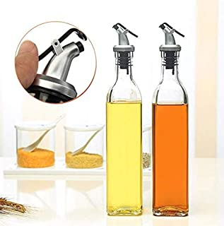 LDG Ware Glass Oil and Vinegar Storage Bottle Cruet Seasoning Set for Dining Table and Home and Kitchen Sauce Bottle Dispe...