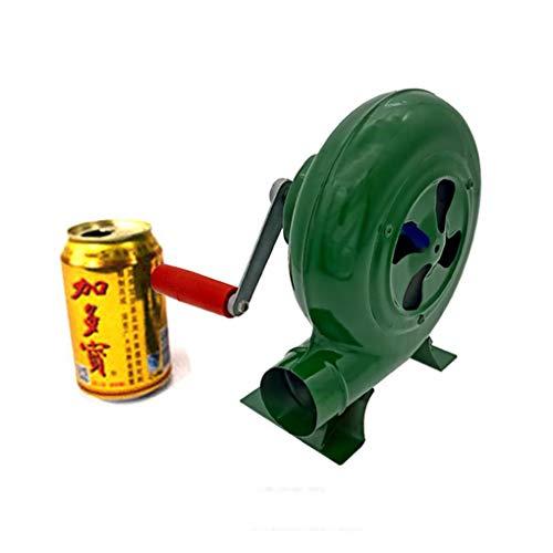 AMZH Grillventilator Luftgebläse - Handbetätigte Zündhilfe Werkzeug Handkurbelventilator Luftgebläse - Metallhandgebläse Geeignet für Herd, Grill, Popcorn Hand Crank 150W