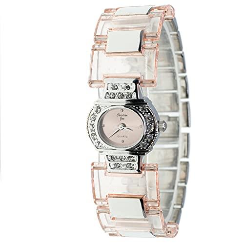 Christian Gar Cg-88549-1 Reloj Analógico para Mujer Caja De Metal Esfera Color Rosa