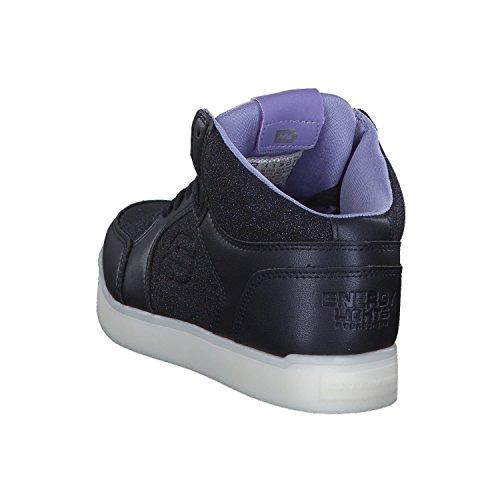 Skechers Mädchen Energy Lights Hohe Sneaker, Blau - 4