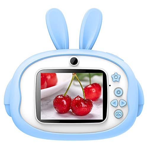 Lily Mini-Digitalkamera 1200W Kinder Pixel 2,4-Zoll-IPS-Augenschutz Große Bildschirm Zeitraffer Aufnahmen Bequem Kamera Geeignet Für 4 Bis 12 Jahre Alt,Blau