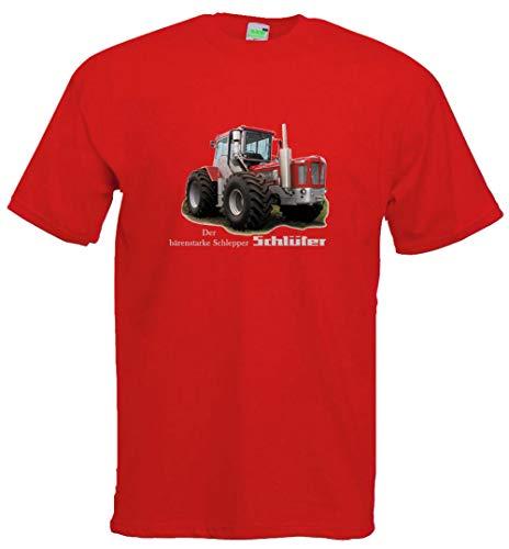 Kinder T-Shirt | Bildmotiv, Der bärenstarke Schlepper | rot | Größe 140