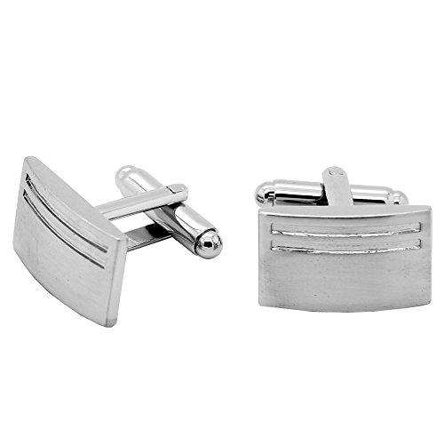 1 Paar elegante Manschettenknöpfe Silbern Manschettenknopf für Oberhemd Herrenschmuck Manschette Tunnelstore