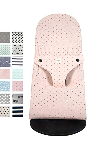 Fundas BCN® F185/4597 - Funda para Hamaca BabyBjörn ® Balance, Soft y Bliss - Apta para Todos los Modelos - Estampado Little Fun Peach