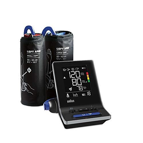 Braun ExactFit5Connect BUA6350 Intelligentes Oberarm-Blutdruckmessgerät für Zuhause mit zwei Manschettengrößen