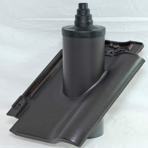 Rhedach TON/PVC Antennenpfanne für Koramic Alegra 12 BOGEN (anthrazit – engobiert)