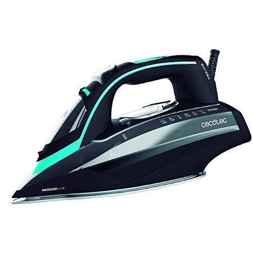 Cecotec Plancha Ropa Vapor 3D ForceAnodized 750 Smart. 3100W. Golpe de Vapor 200 g/min. Doble Suela Anodizada. Pantalla LCD. Vapor Continuo 65 g/min. Antical. Autoapagado. Modo Eco. Depósito 400 ml.