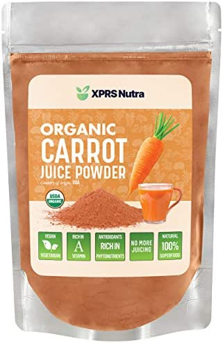 XPRS Nutra Organic Carrot Juice Powder Pure Carrot Powder Organic from The USA Ideal for Juice product image