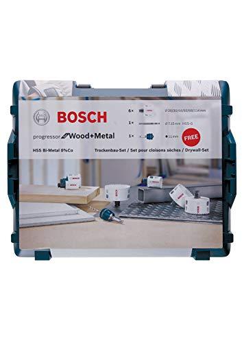 Bosch Professional 8-delige Gatenzaag Progressor for Wood & Metal Set (in L-Boxx, accessoires boormachine)