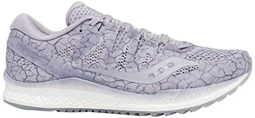 Saucony Freedom ISO 2 - Zapatillas de Running para Mujer, Color Blanco, Color Morado, Talla 42 EU