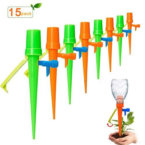 WeyTy Automatisch Bewässerung Set, 15 Stück Bewässerungssystem Topfpflanzen Blumen Automatisch Bewässerung Set Bewässerung Für Zimmerpflanzen, Ideal Wasserversorgung Während Ihrem Urlaub