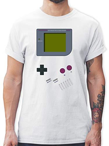 Nerds & Geeks - Gameboy - L - Weiß - t Shirt 90er Jahre - L190 - Tshirt Herren und Männer T-Shirts