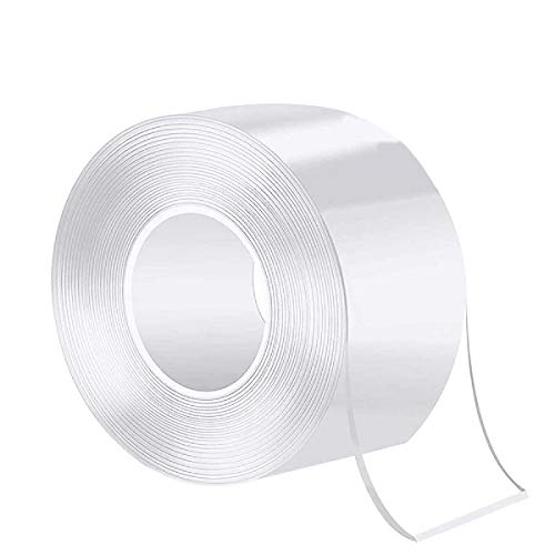 KOYOI 防カビテープ キッチンテープ マスキングテープ のり残らず 繰り返し 防水 防油 防カビ 汚れ防止 強力 透明 洗濯可能 多機能 防水テープ 補修テープ 台所 キッチン バスルーム 浴槽まわり ベランダ 洗面台用など (0.8mmx50mmx1