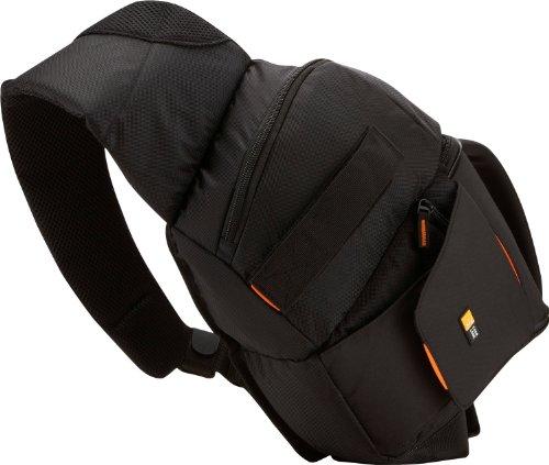 Case Logic SLRC205 SLR Slingbag S Kamerarucksack mit einstellbarem Schultergurt (für Spiegelreflex) schwarz/orange