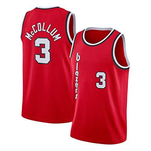 DIWEI Herren Basketballtrikot, Trail Blazers#11 CJ McCollum, Street Retro T-Shirt Sommer Stickerei Tops Boy Swingman Basketball Kostüm Geburtstagsgeschenk (S-3XL) Gr. L, rot