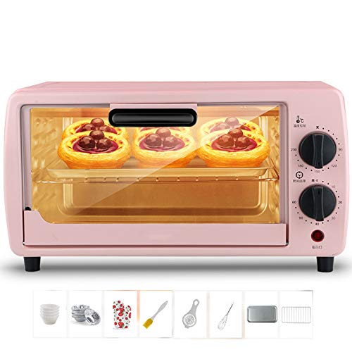 YXYLD 9L Mini Oven with Adjustable Temperature 0-230 ℃ and 60 Minute Timing Three-Layer Baking Position Multi-Function Electric Oven 600W Independent Temperature Control