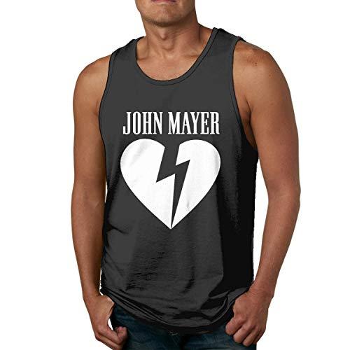 DJNGN Camiseta de algodón para Hombre, Camiseta sin Mangas para Gimnasio, Camiseta sin Mangas con Logo de John Mayer Heartbreak, Camiseta sin Mangas