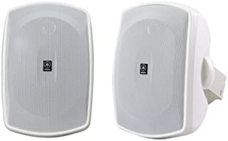 Yamaha NS-AW190WH 2-Way Indoor/Outdoor Speakers (Pair, White)