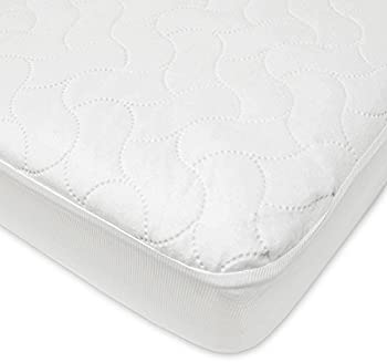 American Baby Company Waterproof Fitted Crib and Toddler Protective Mattress Pad Cover, White (1 Count), for Boys and...