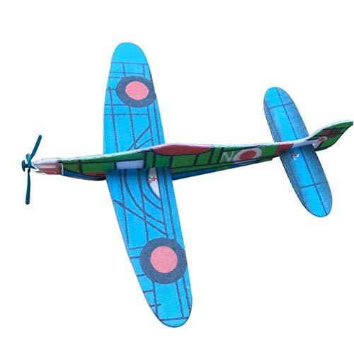 HoneybeeLY Paquete de 20 planchas de Espuma para lanzar a Mano en el avión, Modelo de avión de inercia montado, Juguete para niños, (Color al Azar)