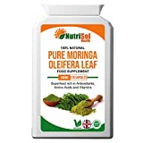 NutriSol Health Pure Moringa 500mg 120 Capsules | 100% Pure, Natural, High Quality Food Supplement Made in The UK | Superfood, Rich in Essential Vitamins, Minerals and Amino Acids