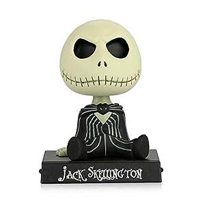 Adornos de coche PVC Jack Esqueleto Figura de acción Shaking Head Doll Dashboard Decoración La Pesadilla Antes de… 5