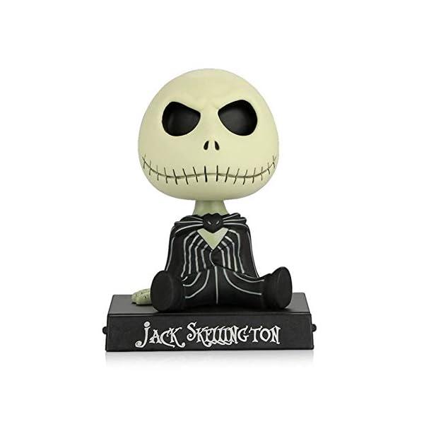 Adornos de coche PVC Jack Esqueleto Figura de acción Shaking Head Doll Dashboard Decoración La Pesadilla Antes de… 1