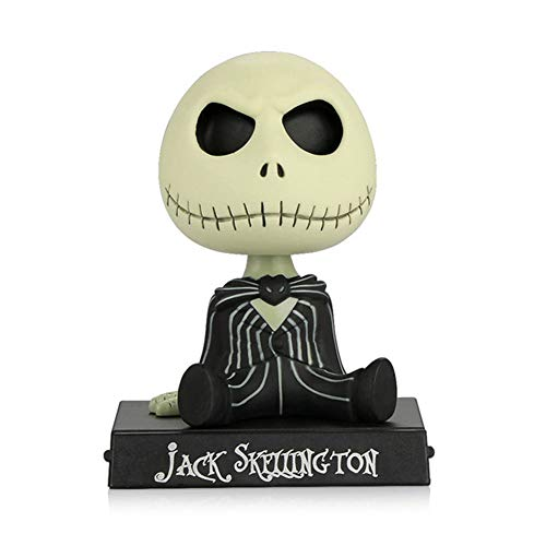 Adornos de coche PVC Jack Esqueleto Figura de acción Shaking Head Doll Dashboard Decoración La Pesadilla Antes de Navidad Jack Juguetes