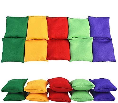 HNLSKJ Conjunto de 10 Bolsas de Frijoles de Nylon, for Juegos de Lanzamiento for niños, PE, Deportes, Habilidades de Lanzamiento, Mini tamaño ggsm