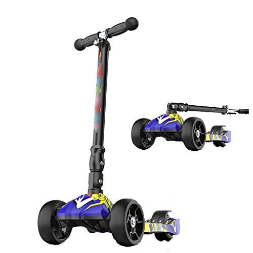 Scooter Aire Libre y Deportes Patinetes Tres Ruedas para niños de 2 a 12 años de Edad, Hombres y Mujeres con la Nueva Tendencia de Seguridad de Deslizamiento de un pie.