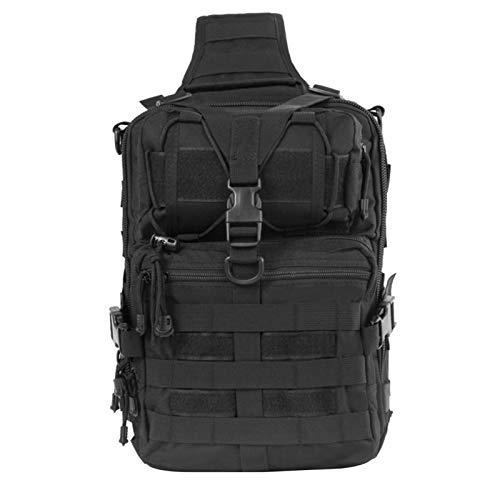 HWZZ Sling Bag Bolso De Bolso Oxford Bolsa De Hombros Messenger Bag Camping Senderismo Ciclismo Bolsa De Pecho (Color : Black)