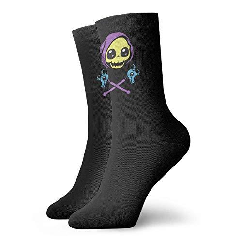 Lsjuee Skeleton Merchandise Unisex Crew Moda Novedad Calcetines Calcetines de vestir Calcetines divertidos