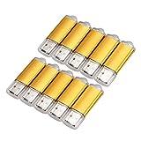 BOINN 10 X 512Mb Memoria USB Unidad Flash USB Lápiz De Memoria Lápiz USB 2.0 Oro