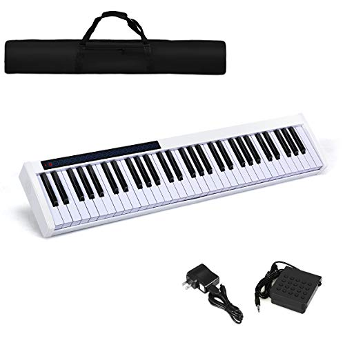 Costzon 61-Key Portable Digital Piano, Upgraded Premium Electric Keyboard...