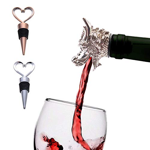 Premium Dragon Wine Bottle Aerator Pourer made of Zinc Alloy and Silicone...