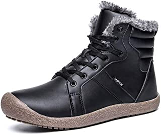 aeepd Snow Boots Winter Anti-Slip Short Ankle Bootie Men Women Water Resistant Lace up Shoes