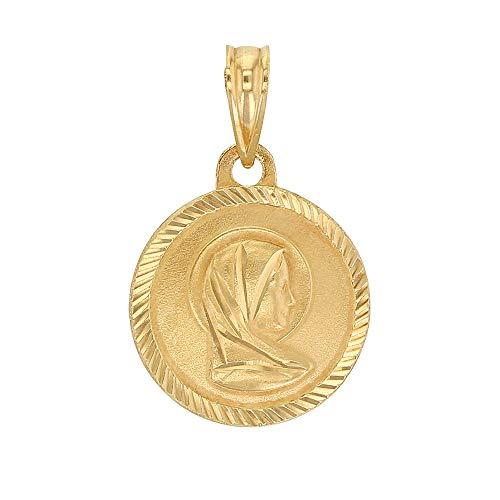 Jouailla-Medalla Redonda Virgen María en Oro 750/1000(305027)
