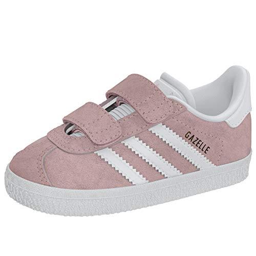 Adidas Gazelle CF I, Zapatillas Unisex niños, Rosa (Ice Pink/Footwear White/Footwear White 0), 27 EU
