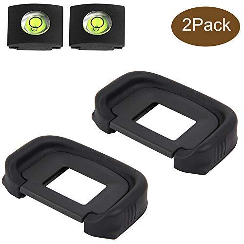 ULBTER EG Augenmuschel Okular Sucher für Canon EOS 5D Mark III /5D Mark IV /7D /1D Mark IV Kamera Ersetzt EG Okular,5D MarkIII/5D MarkIV Okularmuschel & Blitzschuhabdeckung-(2+2 Stück)