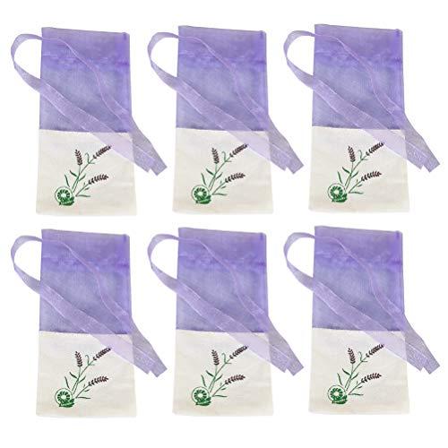 BESTonZON 6 stücke Leere Duftsäckchen LavendelsäckchenLavendelbeutel Organzabeutel mit Kordelzug für Kleiderschrank