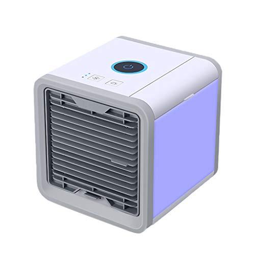 Personal Climatiseur, Petit évaporatif Coolers Purificateur, 3 Vitesses du ventilateur, 7 couleurs LED nuit, aéromobiles ventilateur de refroidissement, for le bureau, la maison, Dorm, Voyage Pour l'é