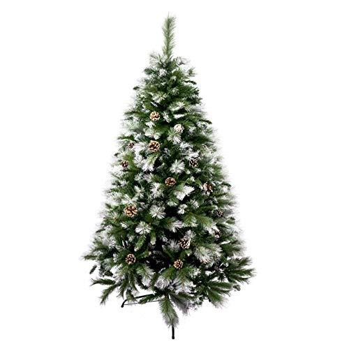 Árbol de Navidad Artificial de Pino Maxi-Relleno Abeto Artificial C/Soporte Metálico 150-240cm (Nevado, 150cm 418Tips)
